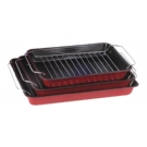 E-1256 BAKEWARE 3PCS ROASTER AND BAKE PAN